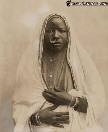 چهره جالب و دیدنی یک زن سودانی در سال 1920