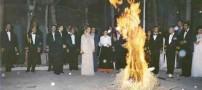 تصویر نایاب از فرح پهلوی در مراسم 4 شنبه سوری