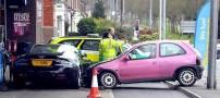 صحنه باورنکردنی تصادف ماشین میلیاردی (تصاویر)