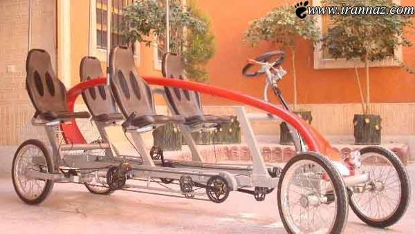 رونمایی اولین تاکسی پدالی دیدنی کشور در اصفهان