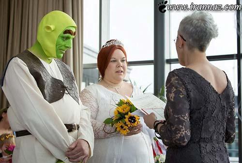 ازدواج عجیب یک زوج به سبک غول های خیالی (عکس)
