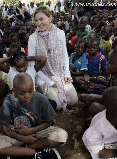 عکس های دیدنی حضور مدونا با فرزندانش در آفریقا!