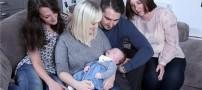 باورنکردنی از تولد نوزادی با 3 مادر و یک پدر!! (تصاویر)