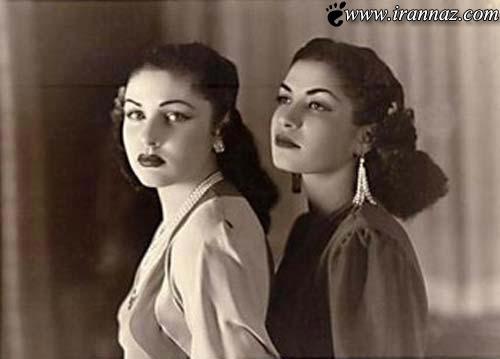 عکسی زیبا از اشرف پهلوی و فوزیه همسر رضا شاه