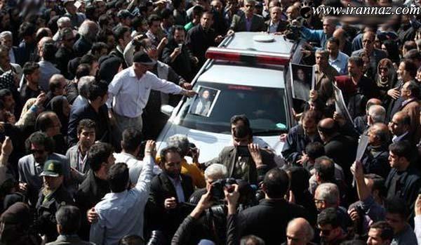 تصاویر پسرعسل بدیعی و بازیگران در مراسم خاکسپاری