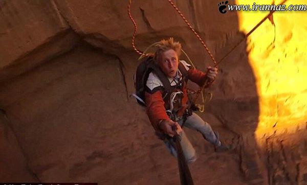 کار احمقانه و دیدنی پسری با نامزدش بالای یک دره!