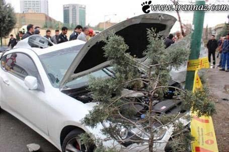 تصادف وحشتناک یک جنسیس کوپه در تهران (تصاویر)