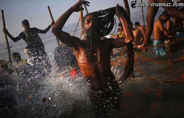 عکس های دیدنی از غسل میلیونی در رودخانه کنگ!!