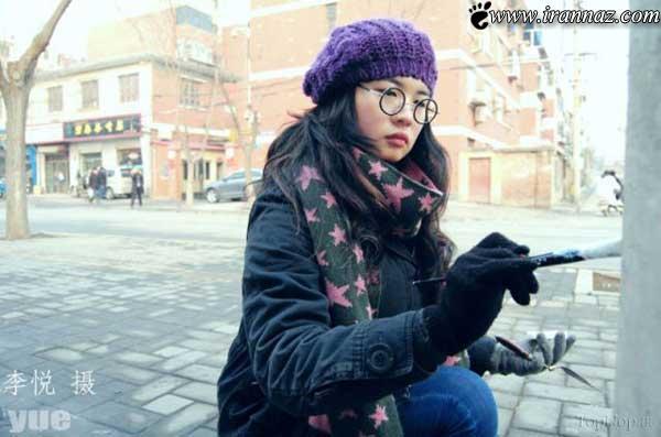 عکس های حیرت انگیز دختر جذاب و هنرمند 23 ساله