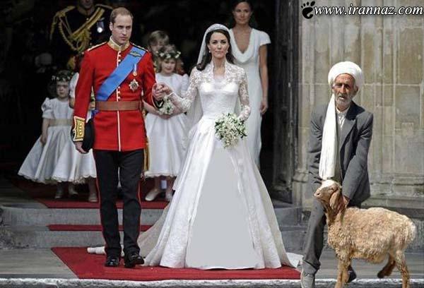 عکس دیدنی و سانسور شده ازدواج سلطنتی انگلستان