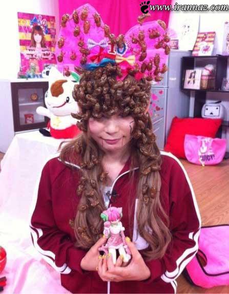 عکس های چندش آور شینیون این دختر با سوسک!!