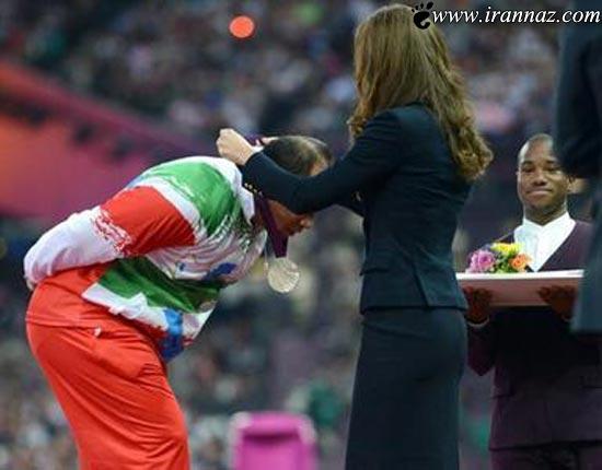 شجاعت ورزشکار ایرانی در برابر عروس ملکه (عکس)