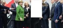حمله عجیب دختران نیمه برهنه به رئیس جمهور (عکس)