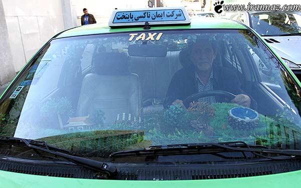 عکس دیدنی ترین تاکسی در شهر تهران+خیلی جالب