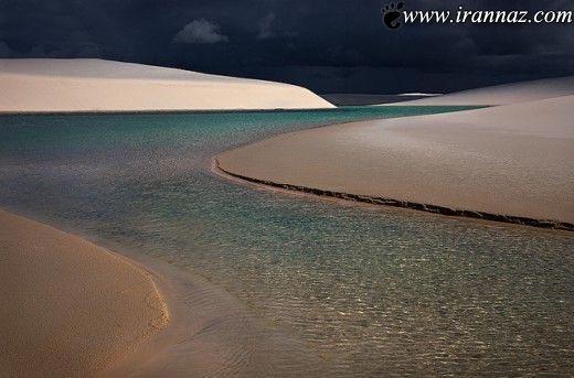 عکس های باورنکردنی و شگفت انگیز کویری پر از تالاب!