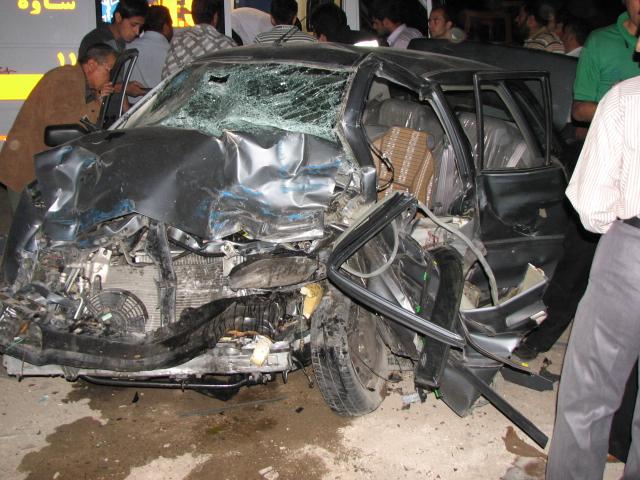 عکسهایی از تصادف دلخراش پراید با نیسان !!!