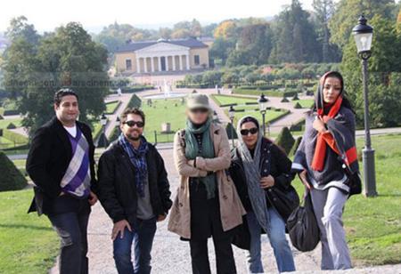 کشف حجاب بازیگر ایرانی در سوئد (+عکس)