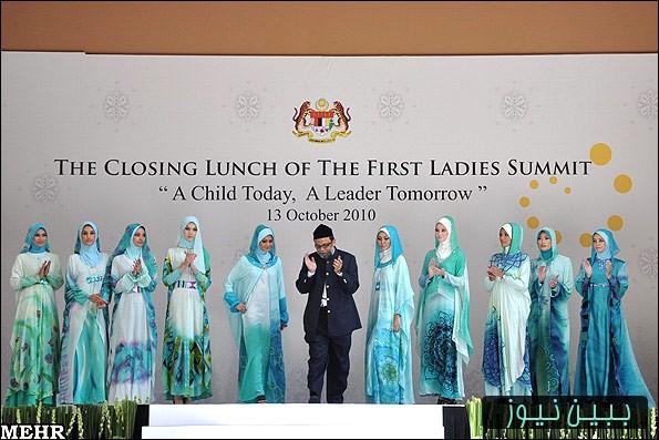 عکسهای نمایشگاه لباس اسلامی زنانه در مالزی