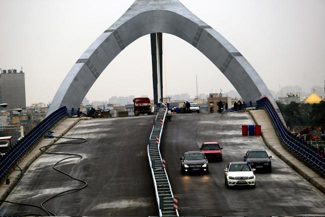 عکس های افتتاح غیررسمی پل جوادیه