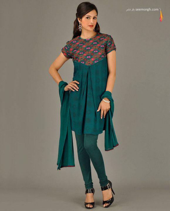 مدلهای جدید مانتو هندی با رنگهای زیبا و متنوع