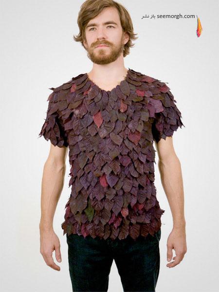 تی شرت های طراحی شده با برگ گیاهان