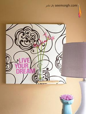 ایجاد طرح بر روی وسایل منزل با استفاده از کاغذ دیواری