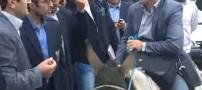 سفر یک دانشجو با الاغ در اعتراض به کمبود بنزین