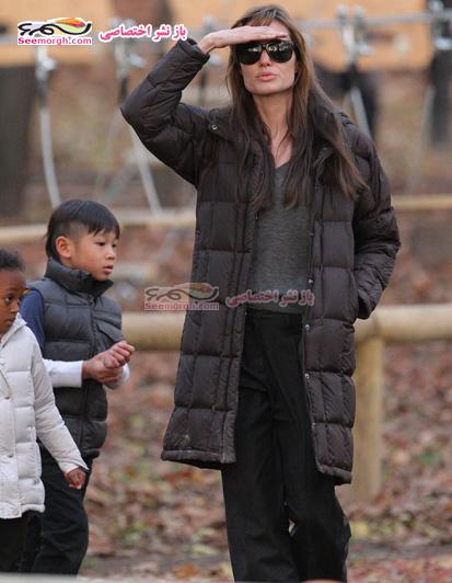 عکس های جدید آنجلینا جولی و فرزندانش