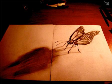 نقاشی های سه بعدی زیبا بر روی کاغذ !!