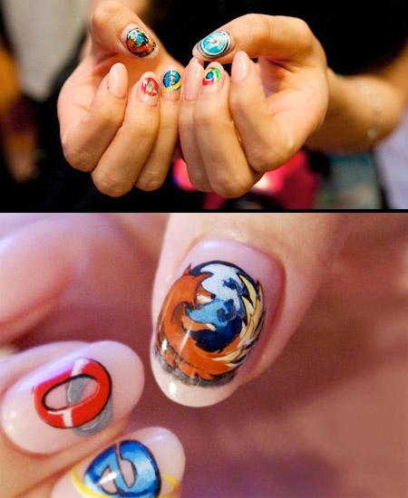نمونه هایی از هنر خلاقیت روی ناخن (مانیکور)
