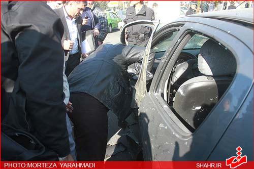 عکسهایی از حادثه ترور دو استاد دانشگاه