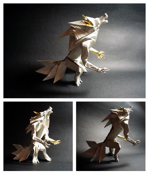 عکس هایی از مجسمه های زیبای کاغذی