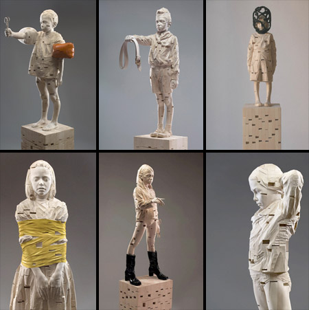 عکس هایی از مجسمه های چوبی بسیار زیبا
