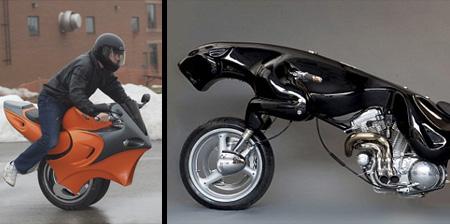 عکس هایی از موتور سیکلتهای بسیار عجیب