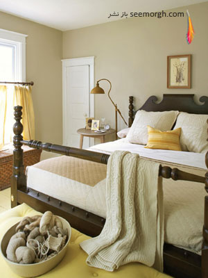 نحوه استفاده از رنگهای گرم برای اتاقها (تصویری)