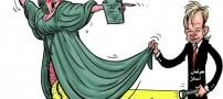 کاریکاتور جنجالی اتهام جنسی به موسس ویکی لیکس!