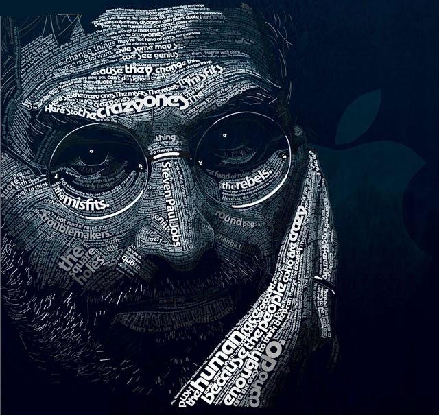 عکس هایی هنرمندانه از طراحی چهره با حروف لاتین