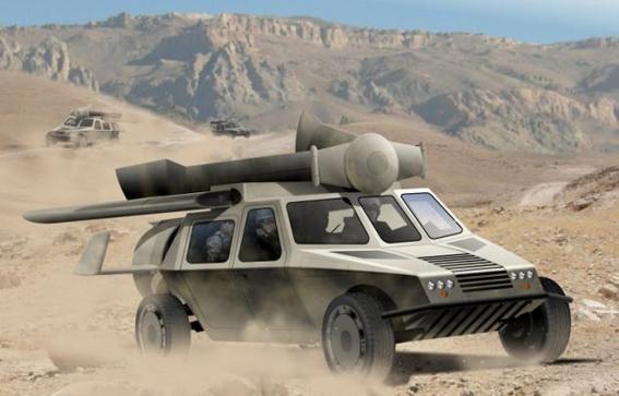 اتومبیلی جنگی که هلیکوپتر هم می شود !