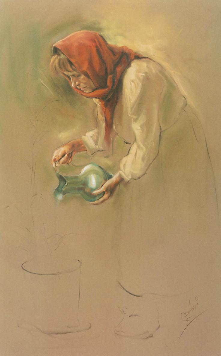 نقاشی های سبک رئال شهراد ملک فاضلی