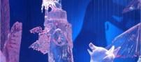 عکس هایی جالب از مجسمه های یخی غول پیکر