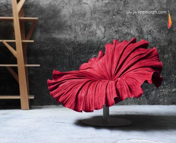 صندلی های زیبا و رنگارنگ به شکل گل
