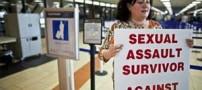 لخت شدن مسافر در اعتراض به قانون تفتیش (+عکس)