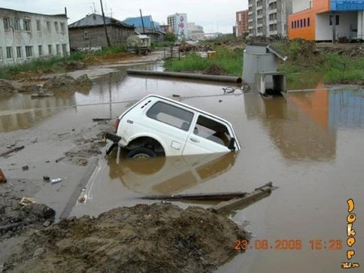 تصاویری از باران و خشم طبیعت