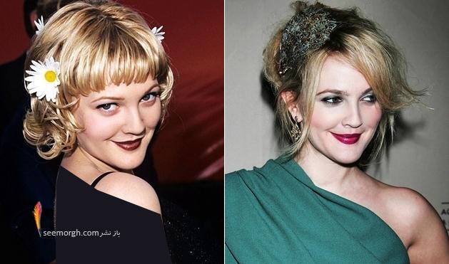 مدلهای مختلف موی بریمور هنرپیشه زیبای هالیوودی