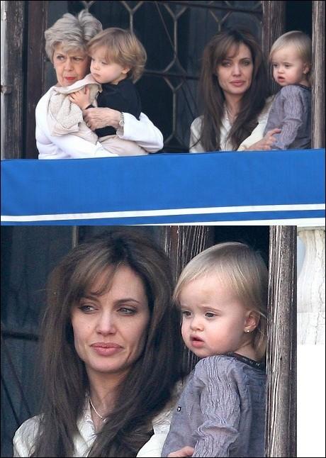 عکسهای آنجلینا جولی ، مادرشوهرش و فرزندانش