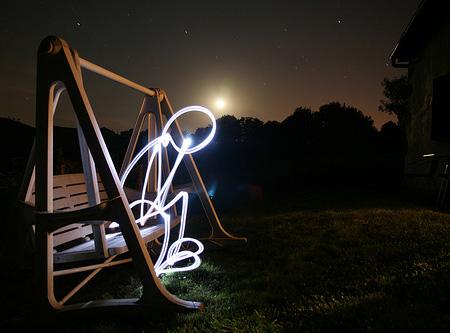 عکس های بسیار زیبای نقاشی با نور