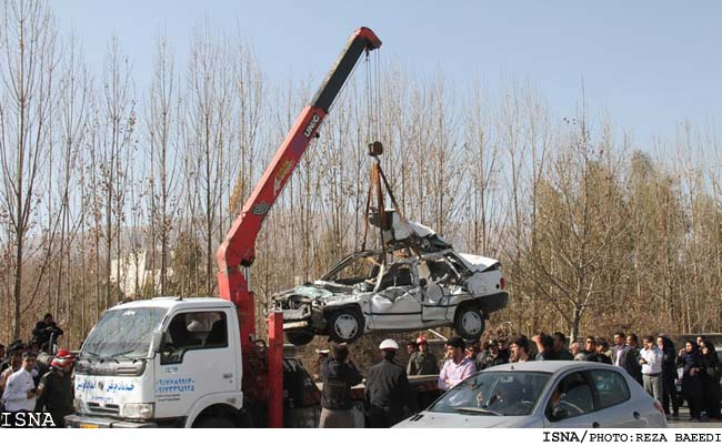 عکس های تصادفی مرگبار سرویس مدرسه در شیراز