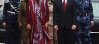 لباسهای عجیب و خنده دار قدافی در مراسم ها